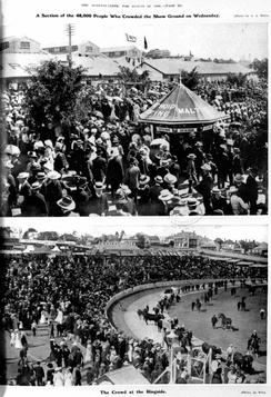 48,000 people crowding the show ground, August 1908
