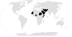 Countries with the death penalty for apostasy[58]