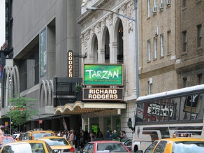 Tarzan, the Broadway musical at the Richard Rodgers Theatre