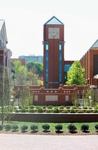 The Joyner Library clock tower at East Carolina University