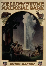 Union Pacific Railroad brochure promoting travel to the park (1921)