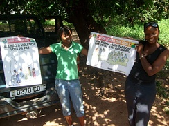 Voter education posters in the Kriol language for Guinea-Bissau legislative election, 2008, Biombo Region