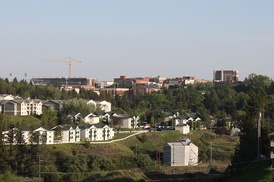 WSU campus from the northwest, May 2012
