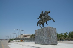 Statue of Alexander the Great in Thessaloniki, Macedonia, Greece