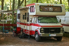 Campervan, Oldtimer with alcove, Chevrolet