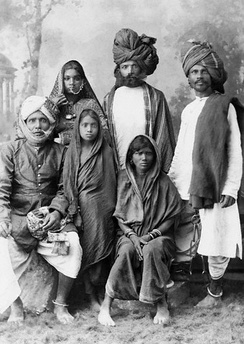 A family of Indian dacoits
