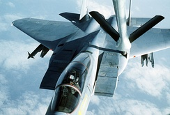 Aerial refueling of F-15 Eagle
