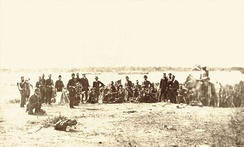 Imperial Brazilian Navy and army troops during the Siege of Paysandú, 1865