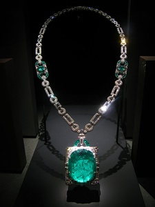 Cartier, (1930), Mackay Emerald Necklace, emerald, diamond and platinum, Smithsonian National Museum of Natural History, USA