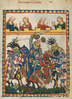 Tournament from the Codex Manesse, depicting the mêlée