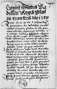 The most important source about the Battle of Grunwald is Cronica conflictus Wladislai regis Poloniae cum Cruciferis anno Christi 1410
