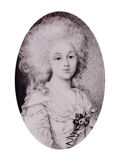 Custine's daughter in law, Delphine Sabran, (Paris, 18 March 1770–1826)[25] Madame de Custine, was considered an icon of femininity and beauty.