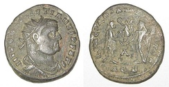 Military issue coin of Diocletian
