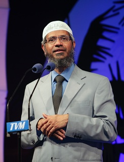 "Zakir Naik: ""If the person who becomes a non-Muslim propagates his faith and speaks against Islam [where] there is Islamic rule, then the person is to be put to death.""[263]"