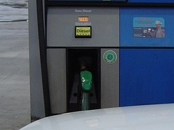 A modern diesel dispenser