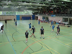 Handball-Mixed-Tournament at the 4th Eurokonstantia, the international sports tournament at the university sports centre in Konstanz in 2009