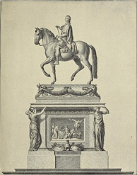 Design by Edmé Bouchardon for statue of the King on Place Louis XV