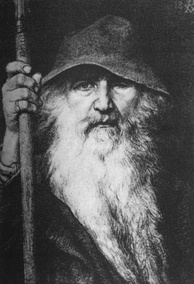 An 1886 depiction of the long-bearded Norse god Odin by Georg von Rosen