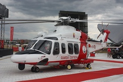 Italian AgustaWestland AW139 for sea rescue.