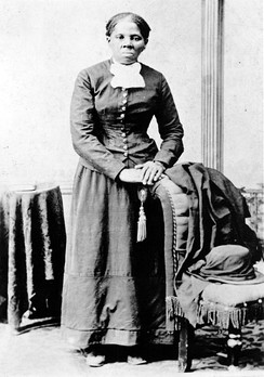 "Harriet Tubman (photo H. B. Lindsley), c. 1870. A worker on the Underground Railroad, Tubman made 13 trips to the South, helping to free over 70 people.  She led people to the northern free states and Canada.  This helped Harriet Tubman gain the name ""Moses of Her People"".[11]"