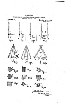 Hettinger's Aerial Conductors for Wireless Signaling US1309031A