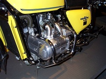 1976 GL1000 engine close up