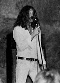 Vocalist Ian Gillan on stage in Clemson, South Carolina, US, 1972