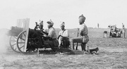 Indian Army gunners (probably 39th Battery) with 3.7 inch Mountain Howitzers, Jerusalem 1917.