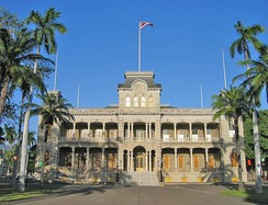 The ʻIolani Palace in Honolulu, formerly the residence of the Hawaiian monarch, was restored and opened to the public as a museum in 1978.