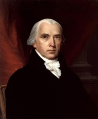 James Madison, the fourth President of the United States (1809–1817). Madison was the leader of the Democratic-Republican Party, whose power base came from southern and western states