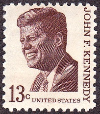 Kennedy on a U.S. postage stamp, issue of 1967