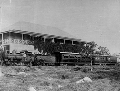 Locomotive at the Cooktown Railway Station, ca 1889