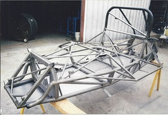 McLaren Can Am Chassis restored by Racefab Inc. for vintage racing