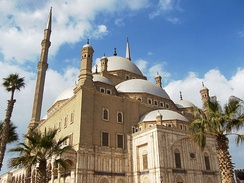 The Mosque of Muhammad Ali in Cairo, Egypt