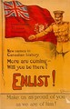 A Canadian World War I recruitment poster