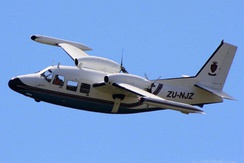 A Piaggio P.166 in flight