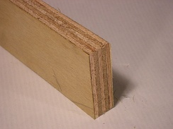 Average-quality plywood with 'show veneer'