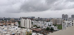 Hadapsar skyline of Pune. Once a village Hadapsar now boasts of IT Parks(Magarpatta and SP Infocity) and shopping malls.