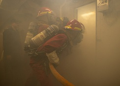 Smoke can expose firefighters to a variety of carcinogens