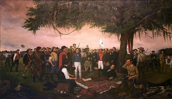 William Henry Huddle: Surrender of Santa Anna (1886; Texas State Capitol, Austin)