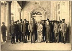 Rabindranath Tagore, known as the Bengali Shakespeare, being hosted at the Parliament of Iran in the 1930s