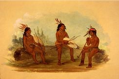 Three young Chinook men