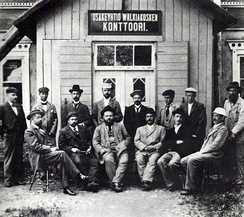 Managers and directors of Walkiakoski Oy, a sulphate pulp mill in Valkeakoski, 1899