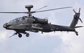 An AgustaWestland Apache attack helicopter