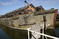 WW2 concrete barge at the National Waterways Museum, Ellesmere Port, Cheshire, UK
