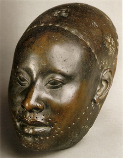Yoruba copper mask of Obalufon from the city of Ife, c.1300