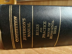 Book cover of the US constitution with the Jefferson's Manual