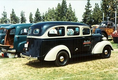 1938 Carryall Suburban, sometimes considered the first minibus to be ever produced. (rear)