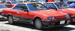 "1983–1985 Nissan Skyline RS coupé (DR30), nicknamed ""Iron Mask"" for its distinctive front end treatment"