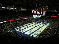 The Saddledome hosted the 2009 Tim Hortons Brier